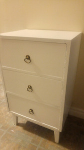 Small 3 drawer side table