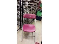 500 plastic folding chairs