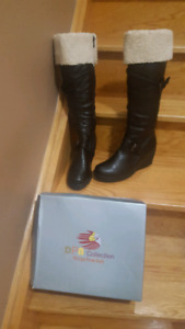 Brand New Black Winter Boots (Size 7)