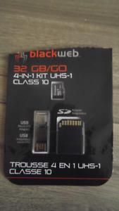 32gb blackweb class 10 microsd card