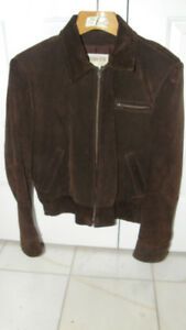 MEN'S SUEDE FALL/SPRING JACKET - SIZE 42 (LARGE)