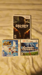 3DS and Wii games