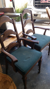 Two wood chairs -$40