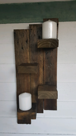Chunky rustic shelf (4 shelves). Made from reclaimed wood.