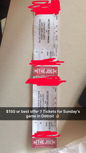 DETROIT RED WINGS TICKETS! Kitchener / Waterloo Kitchener Area image 1