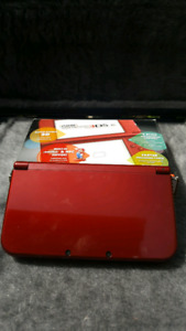 Red New Nintendo 3DS XL with game!