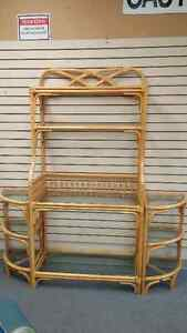 RATTAN STAND AND CORNER PIECES