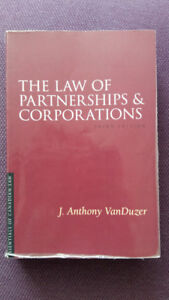 The Law of Partnership and Corporation, VanDuzer, 3rd edition