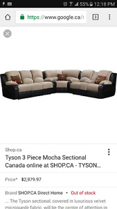 Sectional sofa 3.5 yrs old.