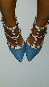 VALENTINO denim LOOK ALIKE HEELS