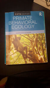 Primate Behavioural Ecology by Strier
