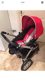 Mothercare MY4 Pram in Red
