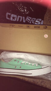 Brand new Mint-coloured Converse Sneakers (mens 13/womans 15)
