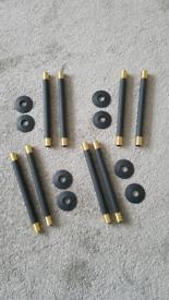 Anthracite radiator pipe connectors