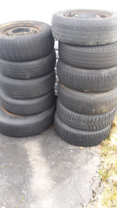 8   14inch tires and 2  15inch tires