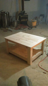 Unfinished 30 X 30 Coffee Table