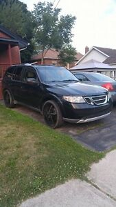 2005 Saab 9-7x 5.3i suv lowered on 24'' rims