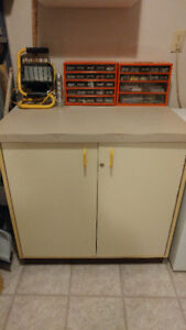 work bench/storage cabinet