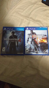 UNCHARTED 4 and bf4 up for trade(read below) Cambridge Kitchener Area image 1