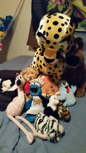 Plush toy collection.