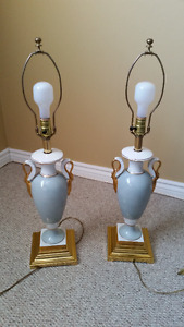 Two Tri-lightTable Lamps