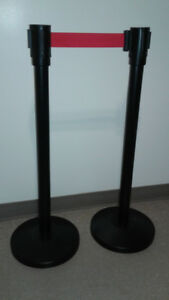 Retractable Belt Stanchions (Red)