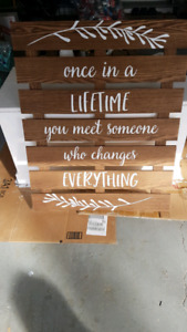 Inspirational wooden sign
