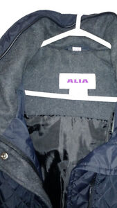 ALIA LADIES NAVY QUILTED JACKET WITH DETACHABLE HOOD SIZE 22W Kingston Kingston Area image 2