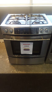 "GAS STOVE SLIDE IN STAINLESS STEEL 30"" JENNAIR"