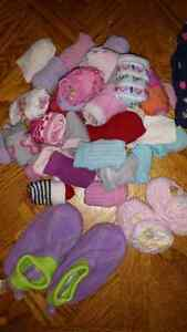 Lot of baby socks and slippers