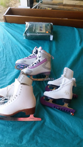 Ladies and girls figure skates