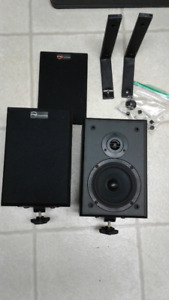 Nuance Speakers. 10in x 7in. With wall mounting  brackets.