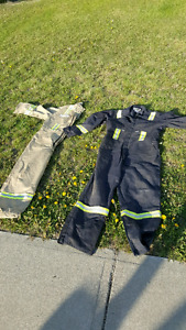Coveralls with reflective tape size 46 and 44.