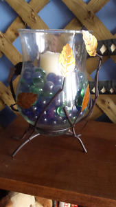 Beautiful candle holders & pebbles