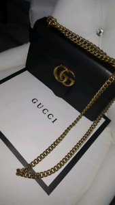 Gucci leather marmont cross body bag