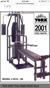 York 2001 Home Gym With Pec Mate