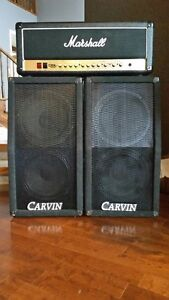 Marshall 100 watt all tube stack with Carvin speakers