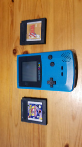 Gameboy color with Zelda and Pokemon
