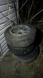 3 - 6 bolt x 17inch rims and tires