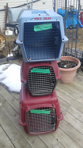 pet carriers( dog crates, cat crate, kennels) 3 to choose from