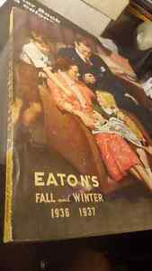 WOW EATONS FALL AND WINTER 1936 1937 CATALOG MINT