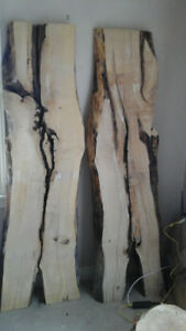 Salvage wood slabs, Live edge slabs