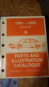 Chevrolet Caprice factory Parts and Illustration Catalogue