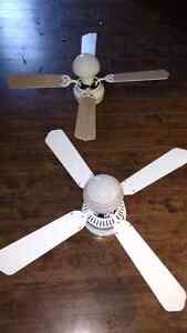 Ceiling fans with lights $50 takes both TODAY