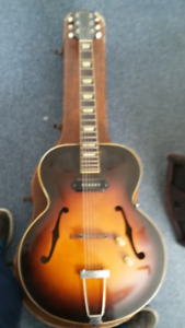 1949 Gibson E-S 150 acoustic electric guitar, F holes, christian