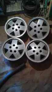 "17"" aluminum  blazer rims in mint condition"