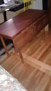 table antique en pin