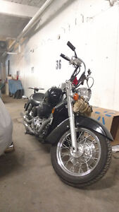 Gorgeous Honda Shadow with pipes and Z bars plus more