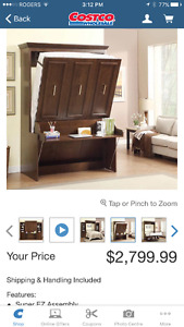 COSTCO 2X LIT DOUBLE ESCAMOTABLE - 2X DOUBLE BED MURPHY BEDS