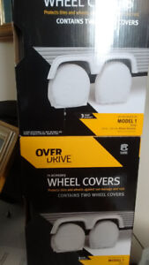 """RV wheel covers 24-26 1/2""""new in box 2 boxes (4 covers in total)"""